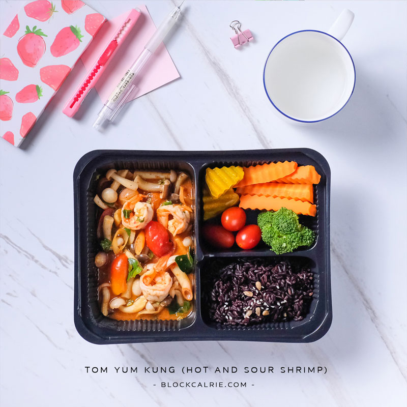 S7 ข้าวกุ้งผัดต้มยำ(Tom yam kung - hot and sour shrimp)