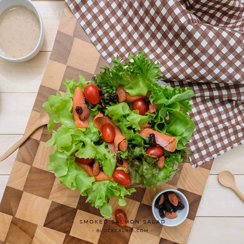 S15 สลัดแซลมอนรมควัน(Smoked Salmon Salad)