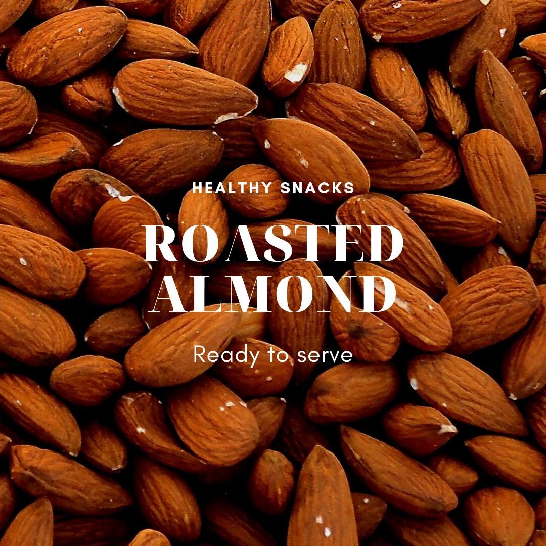 K3 อัลมอนด์(Roasted Almond) 200g
